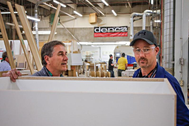 CKCA members toured Denca Cabinets in Calgary.