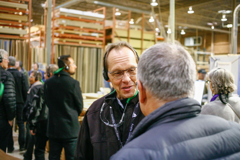 Plant tour during CKCA's 2019 National Forum in Calgary.