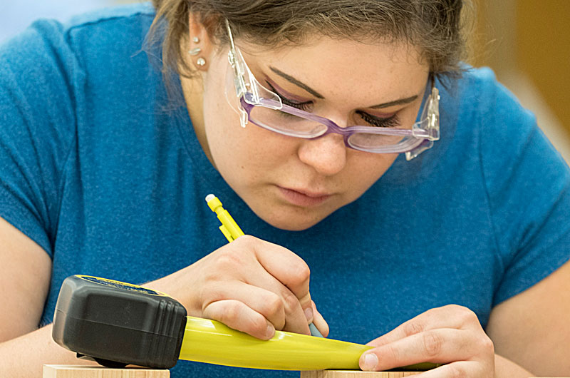 Bethany Debassige is one of several students who will be exhibiting their work in, in Georgian College�s sixth annual Student Cabinetmaking Exhibit on Aug. 7 and 8.
