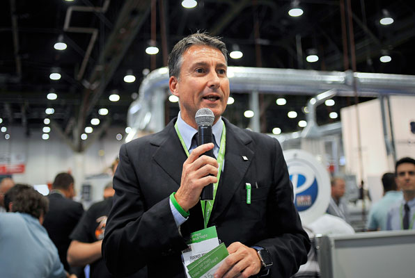 Biesse launches 'Give Campaign' at AWFS 2015.