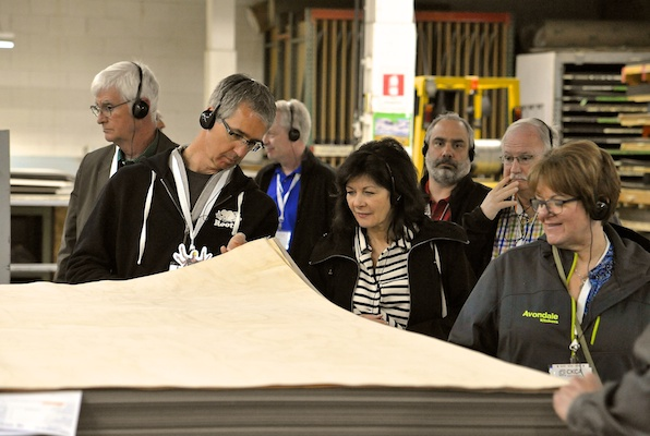 CKCA members visited Pentco Industries in Surrey, B.C. a leader in cabinet door manufacturing.
