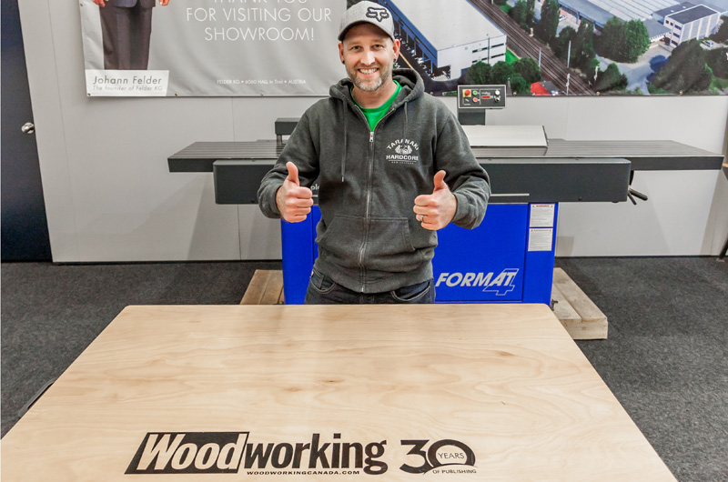 Mark Sibbick is the winner of the Woodworking 30th Anniversary giveaway - a Felder FAT 300 worktable.