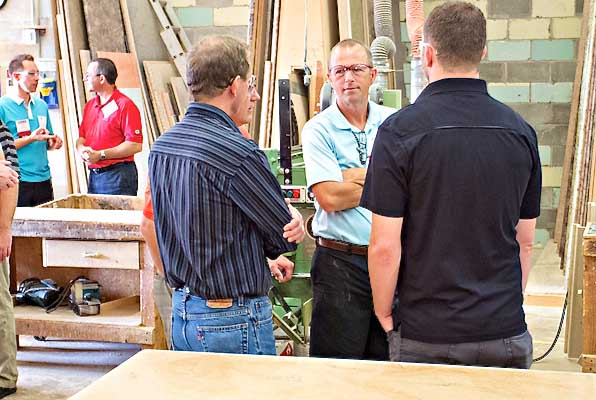 CKCA shop tour at Windmill Cabinet Shop.