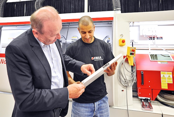 IMA-Schelling Canada first to show off new laser.