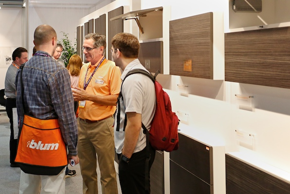 Checking out the latest hardware at Blum.