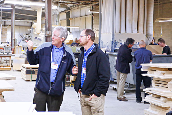 CKCA held plant tours at Nuway Kitchens and Horizon Laminates.