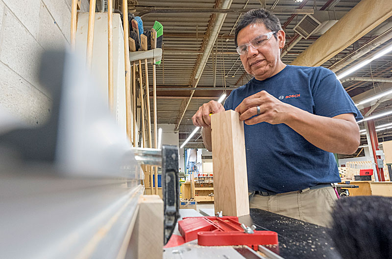 Solomon King will have a few pieces, including an end table and mallet, in Georgian College�s sixth annual Student Cabinetmaking Exhibit on Aug. 7 and 8.